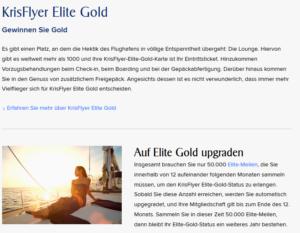 KrisFlyer Elite Gold