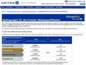 MileagePlus Statusstufen