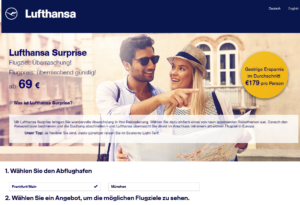 Lufthansa Surprise Blind Booking