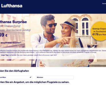 Lufthansa Surprise Blind Booking